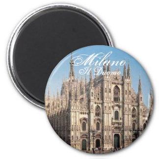 Milano_Duomo, Mailand, IL Duomo Runder Magnet 5,7 Cm