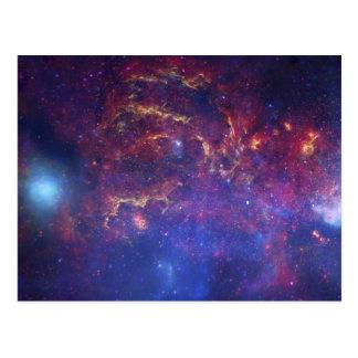 Milchstraße-Galaxie - unsere schöne Nachbarschaft Postkarte