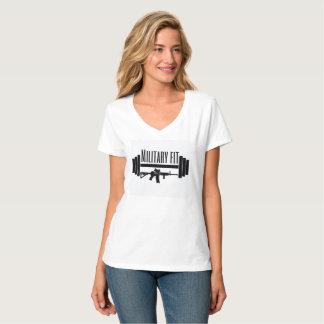 Militär geeigneter Vhals T-Shirt