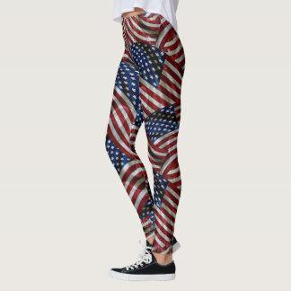 Militär-USA-Stern-u. -streifen-Flagge Legging Leggings