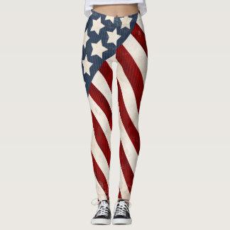 Militär-USA-Sterne u. Streifen Legging Leggings
