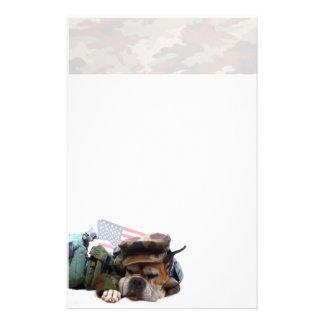 Militärboxerhund stationär briefpapier