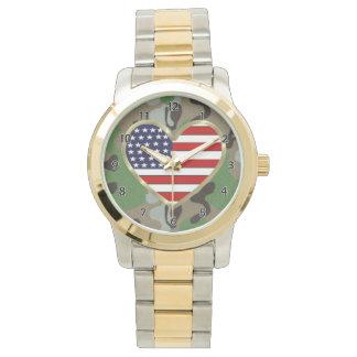 Militärfamilien-Liebe Uhr