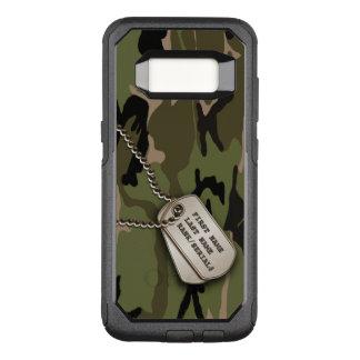 Militärische grüne Camouflage mit Hundeplakette OtterBox Commuter Samsung Galaxy S8 Hülle