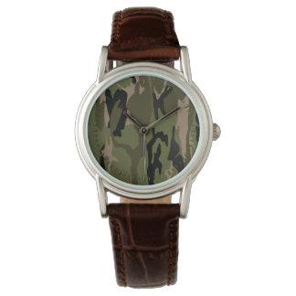 Militärische grüne Camouflage Uhr
