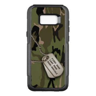 Militärische grüne Tarnung mit Erkennungsmarken OtterBox Commuter Samsung Galaxy S8+ Hülle