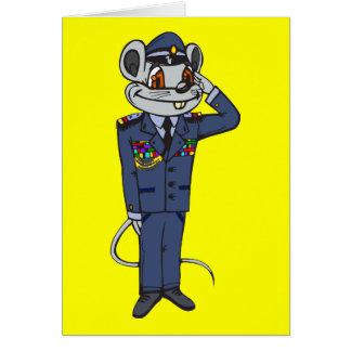 Militärmaus Mitteilungskarte