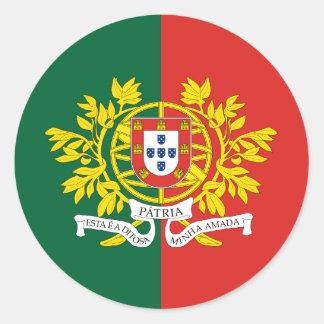 Militärportugal, Portugal Runder Aufkleber