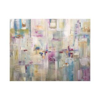 Millies Orchideen-Garten - abstrakte Malerei Gespannter Galeriedruck
