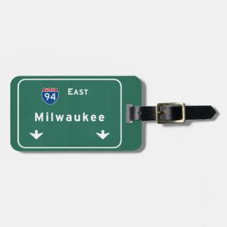 Milwaukee Wisconsin wi-Autobahn-Autobahn Adress Schild