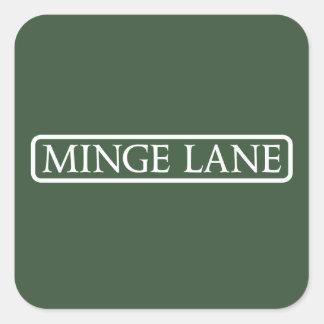 Minge Weg, Straßenschild, Worcestershire, Quadratischer Aufkleber