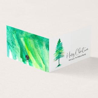 MINI frohe Weihnachten, Aquarell Pinetree, Skript Karte