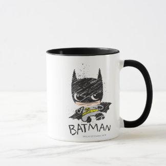 Mini klassische Batman-Skizze Tasse