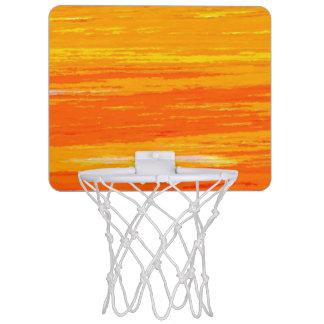 MiniBasketballkorb - unterschiedliches Orange u. Mini Basketball Ring