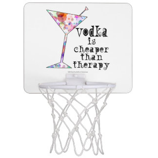 MINIBasketballkorb, WODKA BILLIGER ALS THERAPIE Mini Basketball Ringe