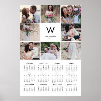 Minimale jährlicher Foto-Kalender der Poster