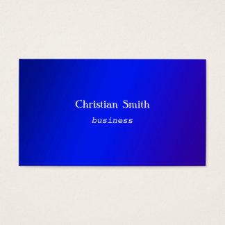 Minimale und moderne blaue Visitenkarte