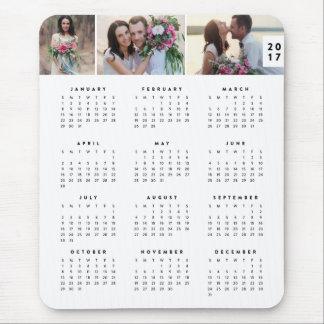 Minimaler jährlicher Kalender Mousepad