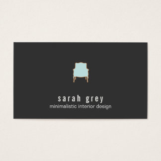 Minimalistic Innenarchitektur-Visitenkarte Visitenkarten