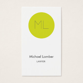 Minimalistic moderner Limoner Kreis der Visitenkarten