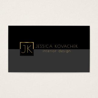 Minimalistic schwarze graue u. Innenarchitektur Visitenkarte