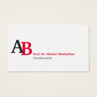 Minimalistisches Corporate Design Visitenkarten