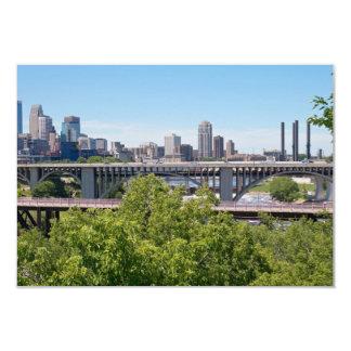 Minneapolis-Skyline und -brücken Karte