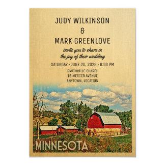 Minnesota-Hochzeits-Einladungs-Bauernhof-Scheune Karte