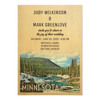 Minnesota-Hochzeits-Einladungs-Vintage Natur Karte