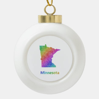 Minnesota Keramik Kugel-Ornament