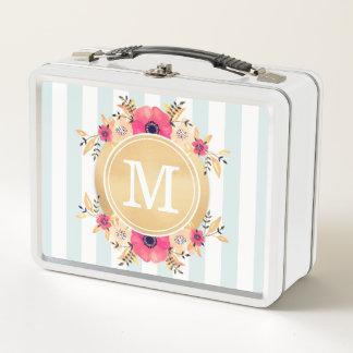 Minze Stripes Metall Lunch Box