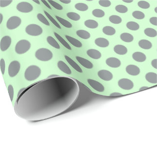 Minzen-Grün mit grauen Tupfen Geschenkpapier