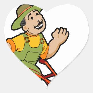 Mir-Liebe-Sie-Rasenzeit Herz-Aufkleber