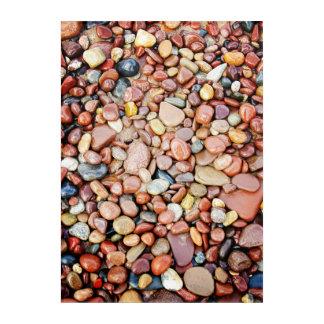 Mischfelsen-rote Stein-Lakeshore Acrylwand Acryldruck