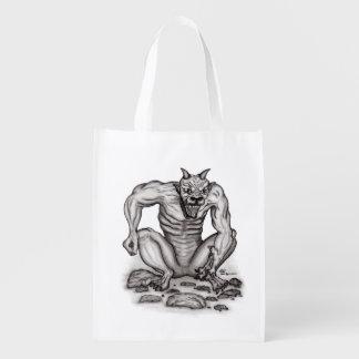 Mischung-Geschöpf - Schleppangel, Golem und Teufel Wiederverwendbare Einkaufstasche