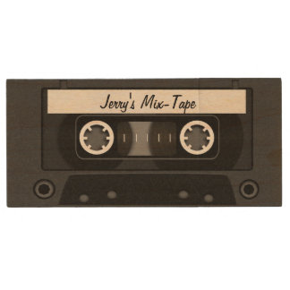 Mischungs-Band-personalisiertes Schwarzes Holz USB Stick