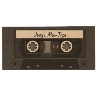 Mischungs-Band-personalisiertes Schwarzes Holz USB Stick 2.0