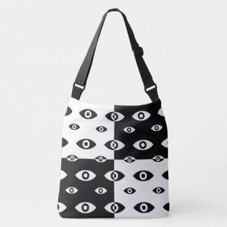 Mischungs-Schwarzweiss-Auge Crossbody Tasche