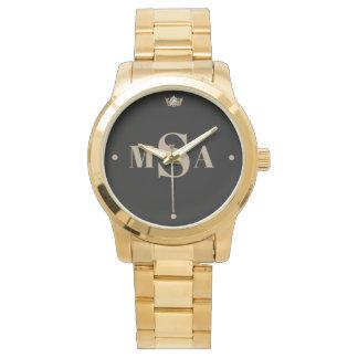 Miss Amerika-Art die Kronen-Uhr kundenspezifischer Armbanduhr