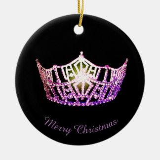 Miss Amerika-Orchideen-Kronen-runde Verzierung Keramik Ornament