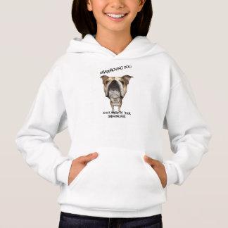 Missbilligenhundebulldogge unterhalten nicht durch hoodie