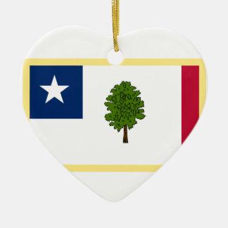 Mississippi-Sezessions-Flagge Keramik Ornament