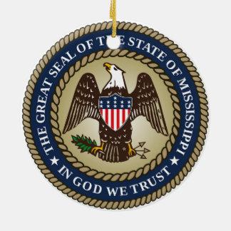 Mississippi-Staats-Siegelamerika-Republiksymbol Keramik Ornament