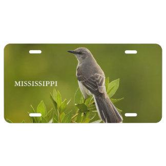 Mississippi-Staats-verspottender Vogel US Nummernschild