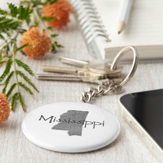 Mississippi Standard Runder Schlüsselanhänger