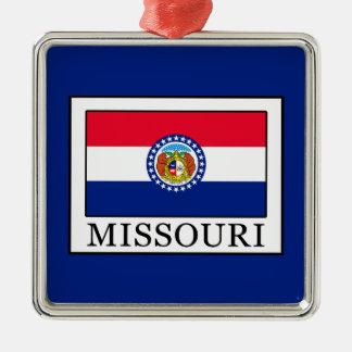 Missouri Quadratisches Silberfarbenes Ornament
