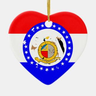 MissouriFlagge Keramik Ornament