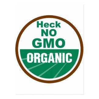 Mist kein GMO Orgainc Postkarte