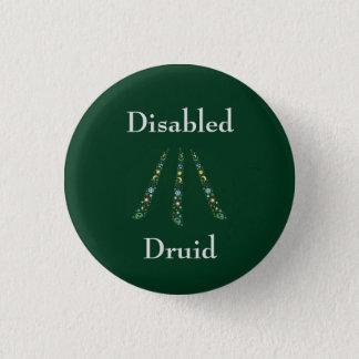 Mit Behinderung Druide Runder Button 2,5 Cm
