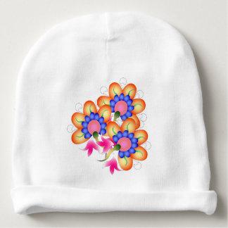 Mit Blumen Babymütze